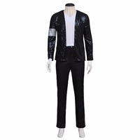 Michael Jackson Outfit Costume Cosplay Adult's Men's Jacket Pants Shirt Cosplay Michael Performance Clothes Cosplay