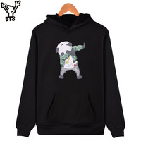 BTS Funny Aminal Sweatshirt Men Hoodie Kawaii Cartoon Panda Hooded Sweatshirt Men Fashion Autumn And Winter