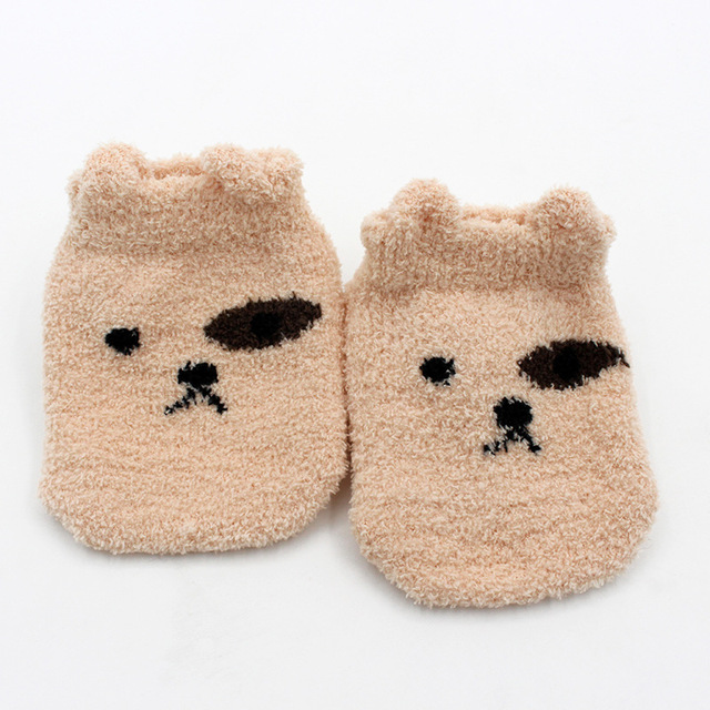 Non-slip Baby Socks Autumn Winter Coral Fleece Socks Warm Toddler Boy Girls Floor Socks Infant Clothing Accessories Thicken 4