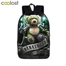 Punk Gothic Girls   Bear Doll Backpack For Teenagers Girls Children School  Bags Men Women Casual 26003d82bafdc