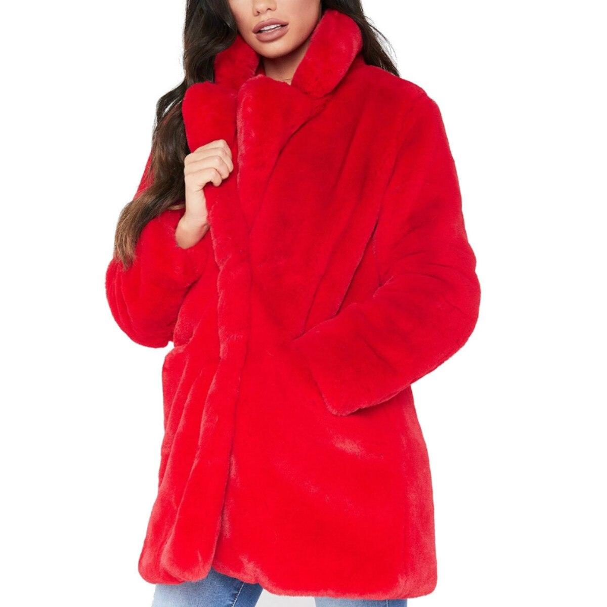 Manteau d'hiver Femme Agneau Court Paragraphe Épaissir