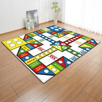 Cartoon Checkerboard Ludo Checkers Party Game Carpets For Living Room Kids Rug Carpet In The Nursery Housing Bedroom Floor Cover
