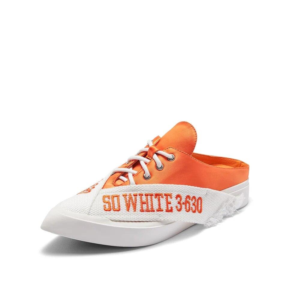 Flache Hausschuhe Black Delivr Schuhe Mode orange Seide blue Mujer Frühling Brief Pantuflas 2019 Frauen Damen BZII5wxg