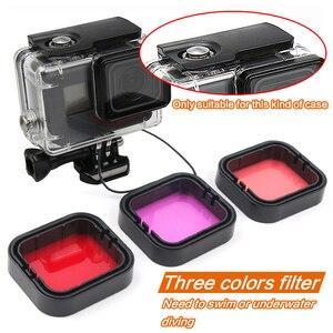 Image 2 - Аксессуары для GoPro Hero 5 Hero 6 7, Набор цветных фильтров для подводного погружения, для Go Pro HERO5 HERO6 Black, суперкостюмный корпус