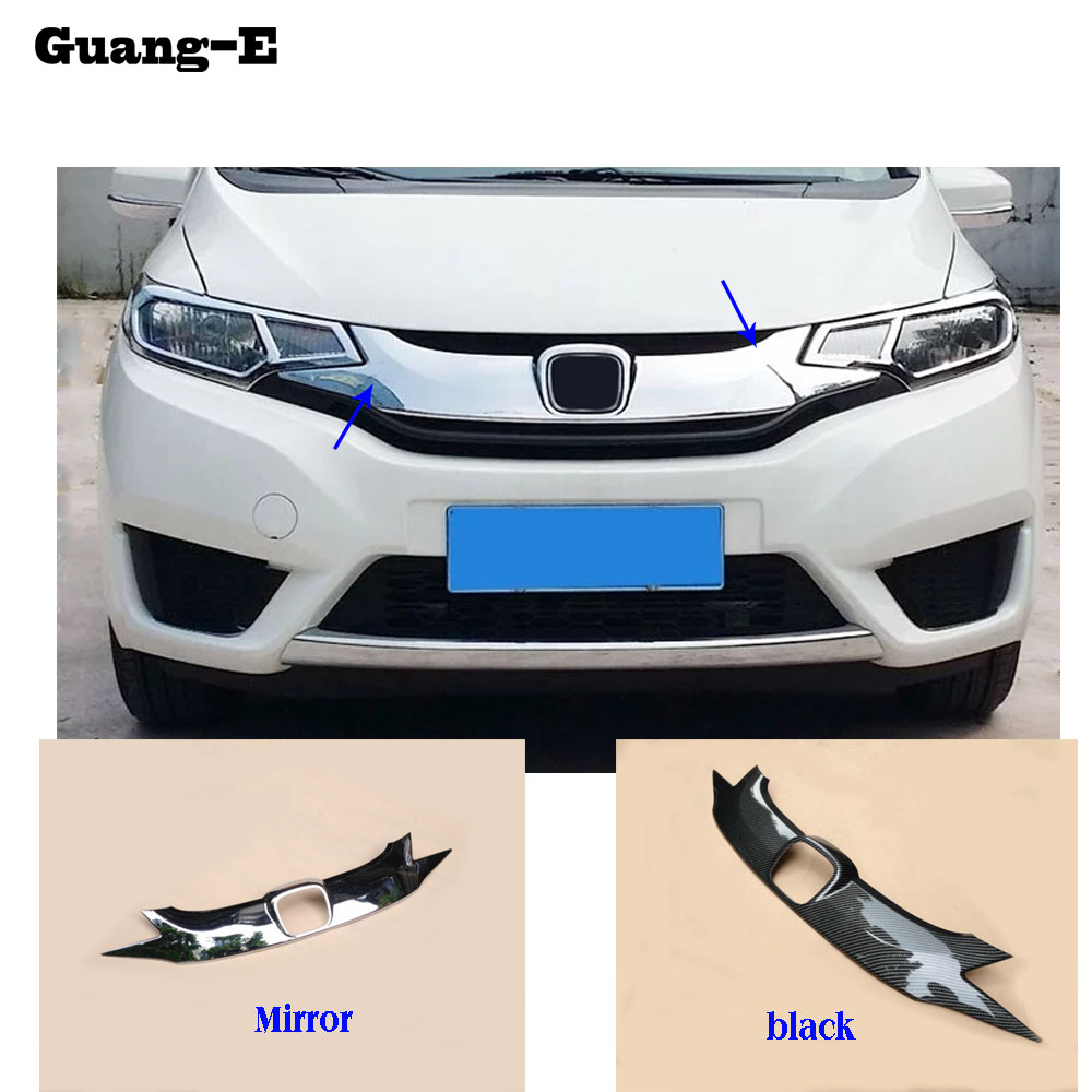 car cover ABS Chrome front engine Machine grille grill upper hood lid trim lamp 1pcs For Honda Fit jazz 2014 2015 2016 2017 for toyota corolla altis 2014 2015 2016 car body styling cover detector abs chrome trim front up grid grill grille hoods 1pcs