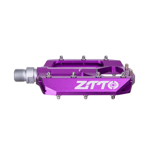 Image 4 - ZTTO MTB Bearing Aluminum Alloy Flat Pedal Bicycle Good Grip Lightweight 9/16 Pedals big For Gravel bike Enduro Downhill JT01