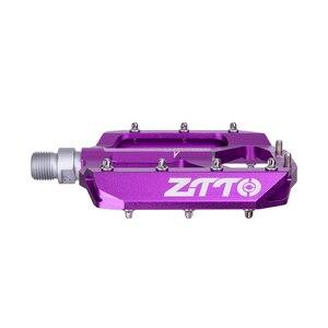 Image 4 - ZTTO vtt roulement en alliage daluminium pédale plate vélo bonne poignée léger 9/16 pédales grand pour gravier vélo Enduro descente JT01