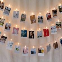 Светодиодный держатель с зажимом для фото 1,5 м, 3 м, 6 м, гирлянды на батарейках, рождественские, новогодние, вечерние, свадебные украшения, сказочные огни