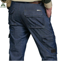 New AFS JEEP Brand Autumn And Winter Man Jeans Men Pants Straight Cotton Male Denim Brand