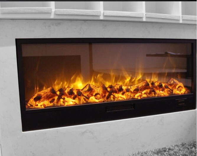 Large 1500w 220v Fake Led Electric Fireplace In Electric Fireplaces