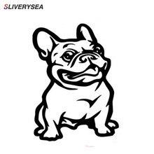 SLIVERYSEA Mới Kết Dính Mạnh Mẽ 3d Stickers Pháp Pháp Bulldog Con Chó Xe Nhãn Dán Vinyl Xe Ô Tô Decal Tùy Chỉnh Cửa Sổ Cửa Tường Sticker
