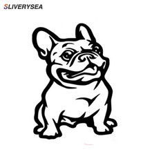 SLIVERYSEA New Strong Adhesive 3d Stickers French Bulldog Dog Car Sticker Vinyl Cars Decal Custom Window Door Wall