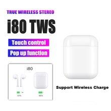 I80 наушники-вкладыши tws Bluetooth 5,0 Air 2 Беспроводной зарядка гарнитура наушники с W1 всплывающем окне Siri PK i30 i20 i60 наушники-вкладыши tws