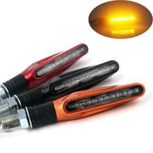 2x 5 Color Motorcycle LED Turn Signal Indicator Light Amber font b Lamp b font For