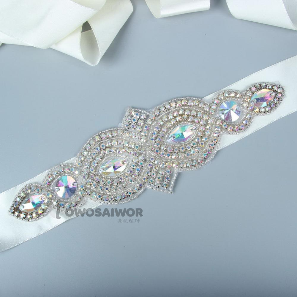 Free Shipping Luxury Applique Style Crystal Bridal Sash Rhinestone Wedding Party Bride Bridesmaid Belt Dress Sash