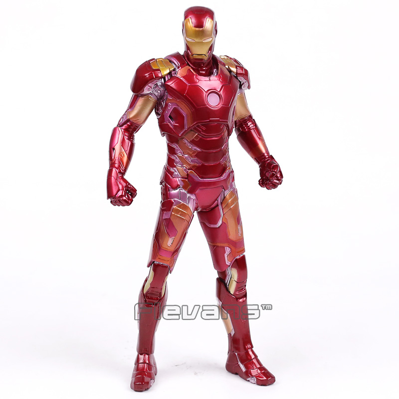 Crazy Toys Avengers Age of Ultron Iron Man Mark XLIII MK 43 PVC Action Figure Collectible Model Toy 12 30cm crazy toys avengers age of ultron hulk pvc action figure collectible model toy 9 23cm