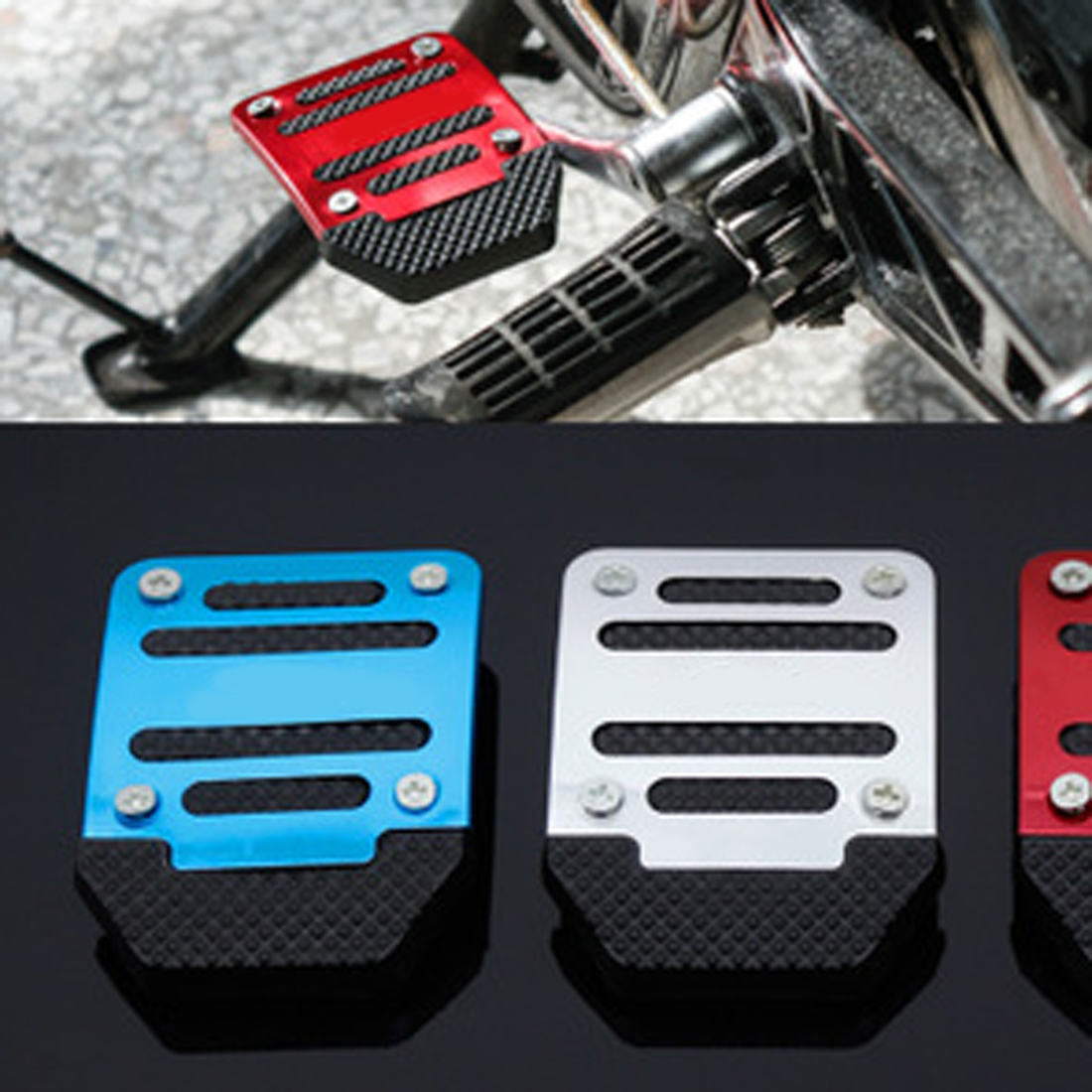 Dongzhen Motorcycle Pedal Foot Pegs Pedal Large Sports Car Foot Pad Accessories Personalized Brake Pedal 6.7*9cm