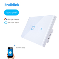 New Ewelink App US Type 1 Gang Wall Light Wifi Switch Touch Control Panel Wifi Remote