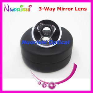 Image 2 - SL13 Ophthalmic Goldman Three 3 Way Mirror Fundus Slit Lamp Contact Lens Black Leather Metal Case Packed Free Shipping