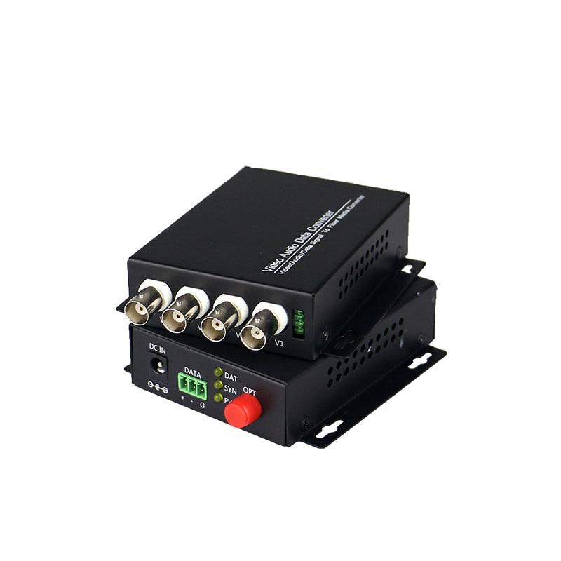 4-channel Digital Video Optical Transceiver Single-fiber Single-mode Fiber Optic Converter FC 20KM