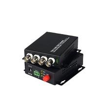 4 チャンネル デジタル ビデオ光トランシーバ単一の繊維シングル モード光ファイバー コンバータ fc 20 キロメートル