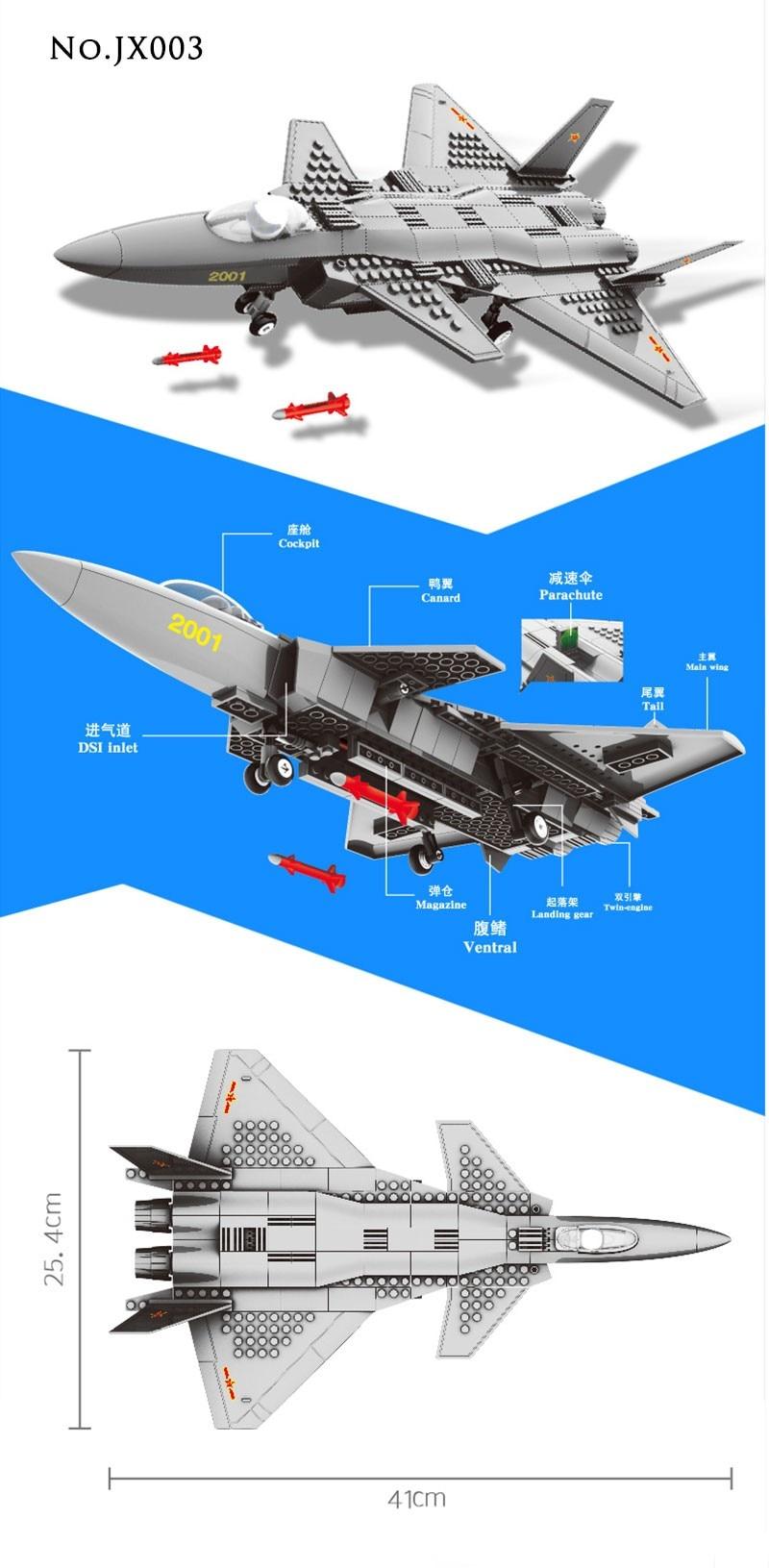 Wange Building Blocks Military F15 Fighter J-15 V-22 Osprey Tiltrotor Aircraft Helicopter Model Building Kits Toys For Children 3