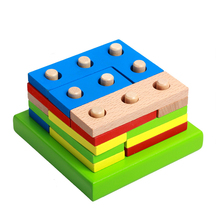 Baby Wooden Toys Montessori Education Shape Geometry Intelligence Board Teaching Leaning Match For Children
