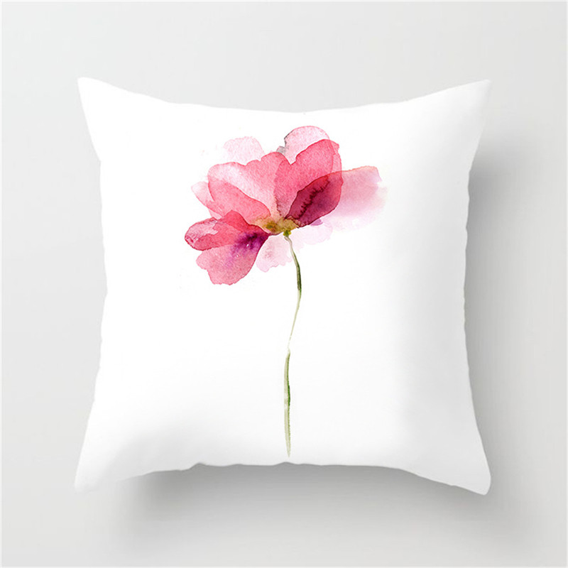 Image 3 - Fuwatacchi Simple Painting Flower Feather Cushion Cover Flamingo Pineapple Leaves Solid Pillow Case Home Decoration Accessories-in Cushion Cover from Home & Garden