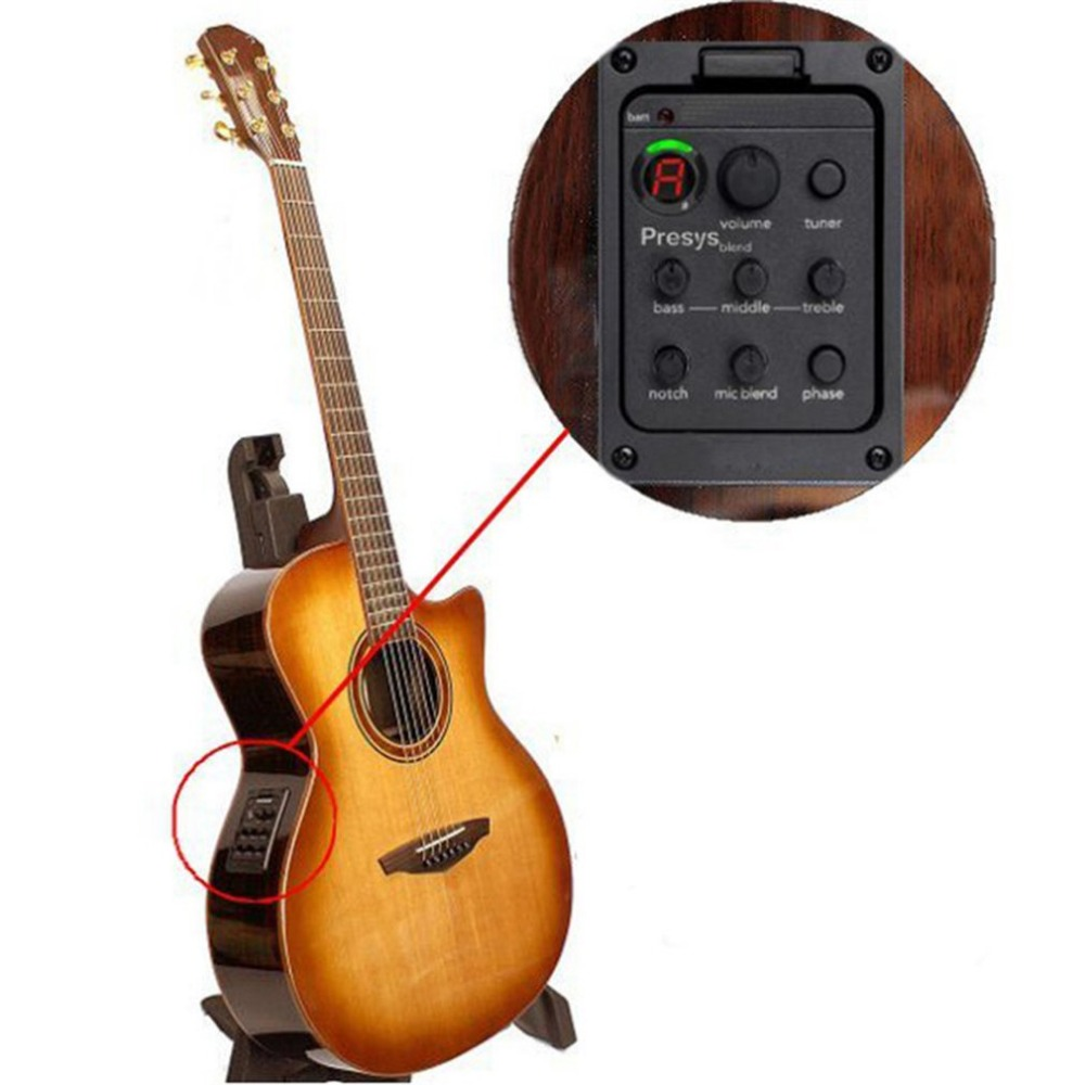sys 301 acoustic guitar pickup dual mode equalizer system built in tuner and eq guitar. Black Bedroom Furniture Sets. Home Design Ideas