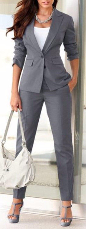 Formelle Bureau Blazer Gris Costumes Charcoal Pièce Femme D'affaires Femmes Grey khaki Pantalon burgundy Made Élégant grey Uniforme Blue W135 2 light Veste navy Définit Custom Z7Ww5Pq7