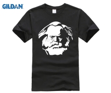 GILDAN New Fashion Mens Short Sleeve Novelty Cool Tops Men T-Shirt Karl Marx Germany Cccp Personalized Shirts