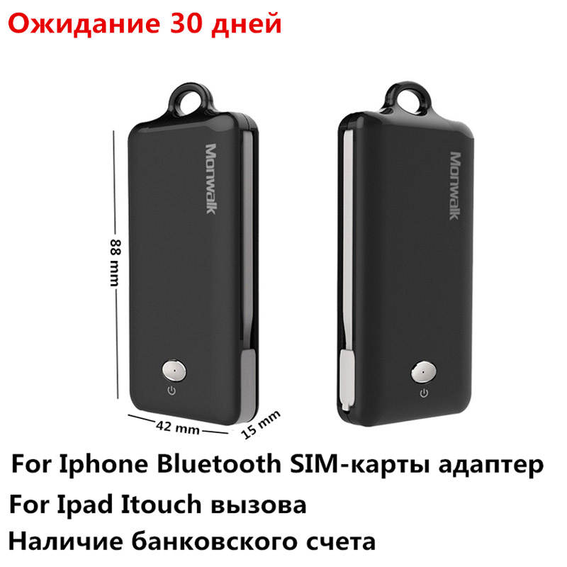 Portable Bluetooth <font><b>Dual</b></font> <font><b>Sim</b></font> <font><b>Card</b></font> Adapter For <font><b>iPhone</b></font> XS Max XR <font><b>X</b></font> Double Multi Morecard adapters For <font><b>iPhone</b></font> 6 6S 7 8 Plus 2000 mAh image