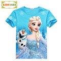 Summer Style Anna Elsa Pattern Girls T-shirt Princess Anna Short-Sleeved Vest Cartoon Girl Clothing Children's Clothing T-Shirt