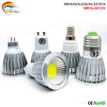 LED Bulb Lamps E27 E14 GU10 COB AC220V MR16 DC12V Light Bulb Real Power 9W 12W 15W Brightness Lampada LED Bombilla Spotlight(China)