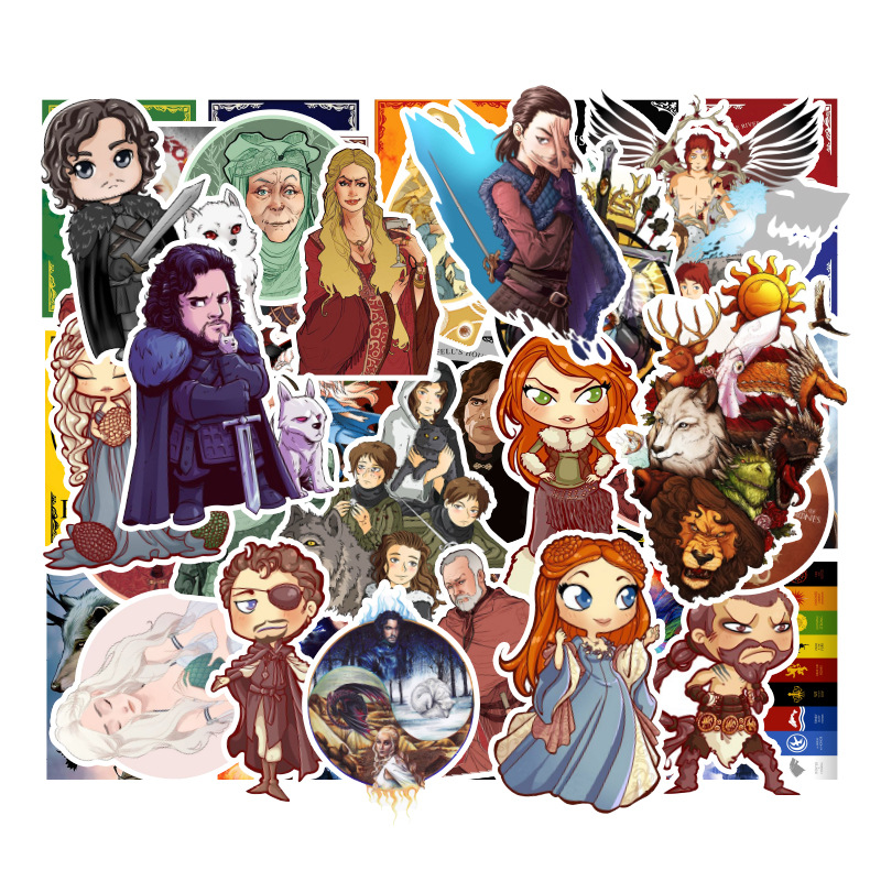 100pcs The Game Of Thrones Stickers The End For Children Luggage Laptop Bicycle Motorcycle Anime Stickers For Toys Sets