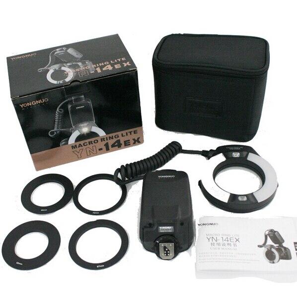 YONGNUO YN-14EX TTL Macro Ring Lite Flash Speedlite Свет для Canon 5D Mark II 5D Mark III 6D 7D 60D 70D 700D 650D 600D