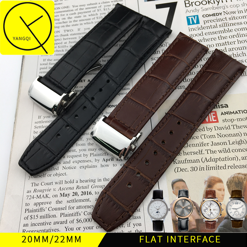 20mm 22mm Genuine Leather for Maurice Lacroix Calfskin Watchband Watch Strap Man Watches for Pontos MASTERPIECE Folding Buckle maurice lacroix pontos s diver pt6248 pvb01 332 1