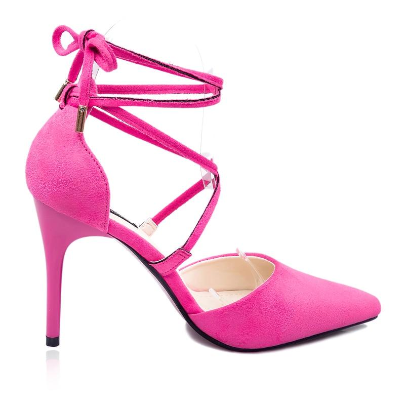 Aliexpress.com : Buy Sexy Black Pink Grey Strappy Stiletto High ...