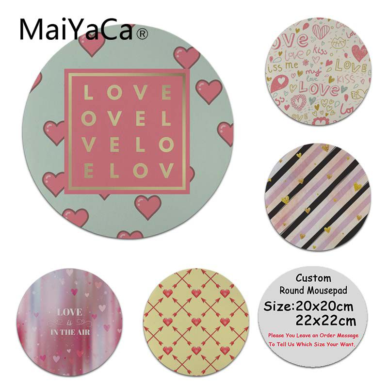 MaiYaCa <font><b>Top</b></font> Quality <font><b>Follow</b></font> Your Heart Unique Desktop Pad Game Mousepad Computer Game Rubber Round Mouse Pad image