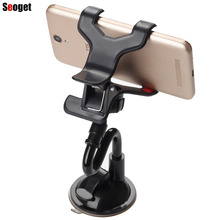 Seoget – Universal Car 360 Degree Windshield Mount Holder Stand Sucker Adsorbed Lazy Stent For iphone 6S 7 Plus Xiaomi Samsung