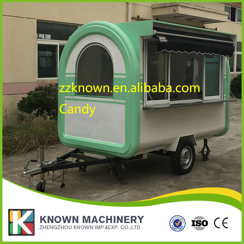 Multifunction mobile food trailer food cart cooking trailer mobile food cart price with platform awning long 2.8m*1.65*2.2M