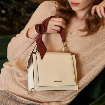 EMINI HOUSE Bow-Knot Shoulder Bag Crossbody Bags For Women Luxury Handbags Women Bags Designer Split Leather Women Bag Shoulder Bags
