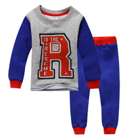 2014 Children Clothes Sets Boys Long Sleeve Thermal Underwear Kids Thickening Pajamas Next Clothing Style Snuggle