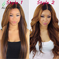 2 Color Full Lace Human Hair Wig With Baby Hair Natural Hairline Lace Front Human Hair Wigs Brazilian Body Wave Lace Wig U Part