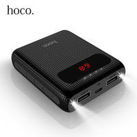 HOCO 10000mAh Dual USB Power Bank Pack Mini External Battery With LED Lighting Polymer Portable Charger