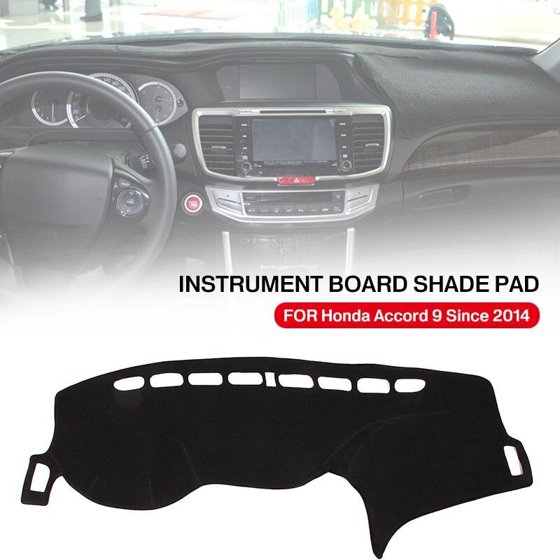 Крышка приборной панели силиконовая Нескользящая черная Солнцезащитная Накладка для машины Pad аксессуары для автомобиля коврик приборной панели запчасти для Honda Accord 9-подарок
