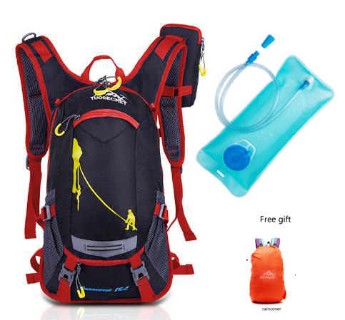 2017 18L Waterproof Camping Backpack +2L Water Bag Outdoor Sports Climbing Riding Cycling Travel Bag Sport Rucksacks Knapsack 18l outdoor professional cycling backpack riding rucksacks bicycle road bag bike knapsack sport camping hiking backpack