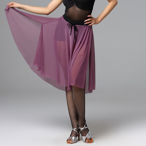 Image 4 - Fashion Women Latin Dance Skirt For Sale Waltz Tango Ballroom Sexy Practice Dancing Training Skirts Performance Wears DL2559