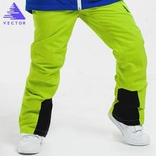 Boys Ski Pants Children's Brand New High Quality Windproof Waterproof Ski Trousers Winter Boys Ski and Snowboard Pants недорого