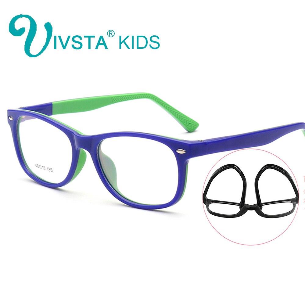 IVSTA TR90 Plastic Titanium Kids Frame Elastic Hinge Children Glasses B lenses with diopter with amblyopia or prescription 906